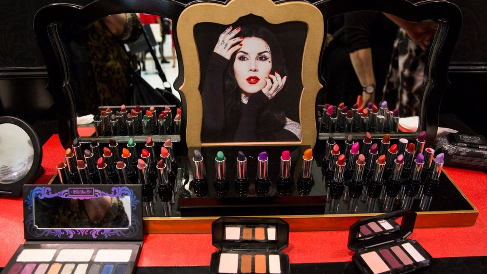Kat Von D make-up counter in Oxford Street Debenhams