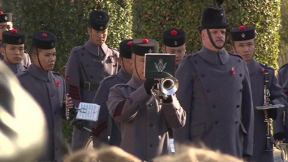 Bugler at the National Memorial Arboretum