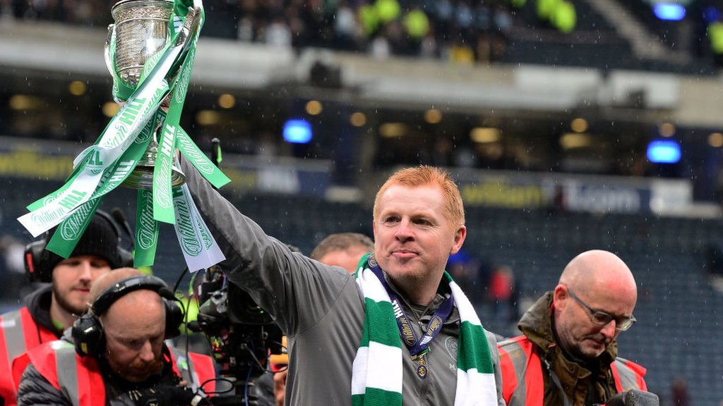 Lennon offered Celtic manager's job after sealing treble treble