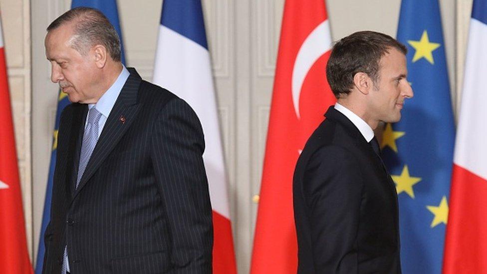 أردوغان وماكرون اختلفا بشأن عدد من القضايا.