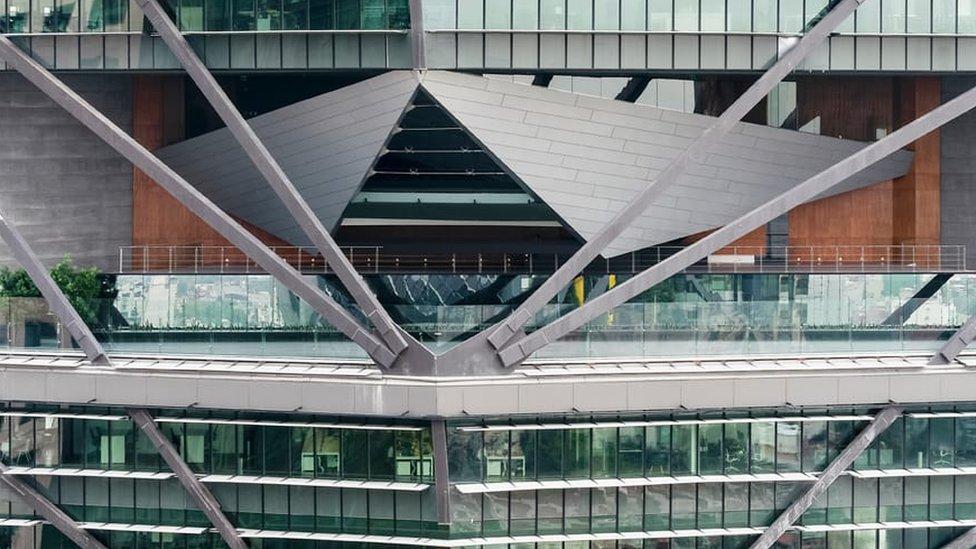 Vista de uno de los pisos de Torre Reforma