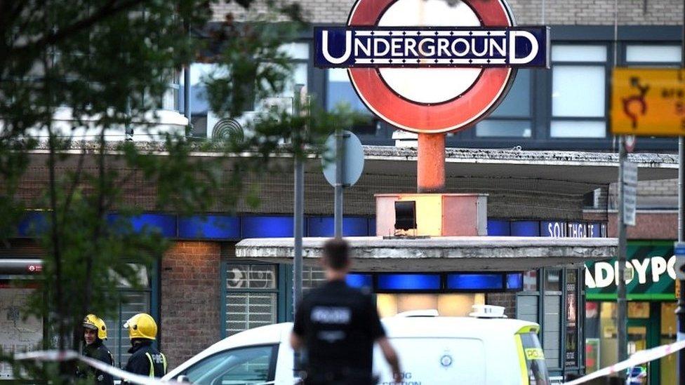 Man arrested over Southgate Tube station explosion