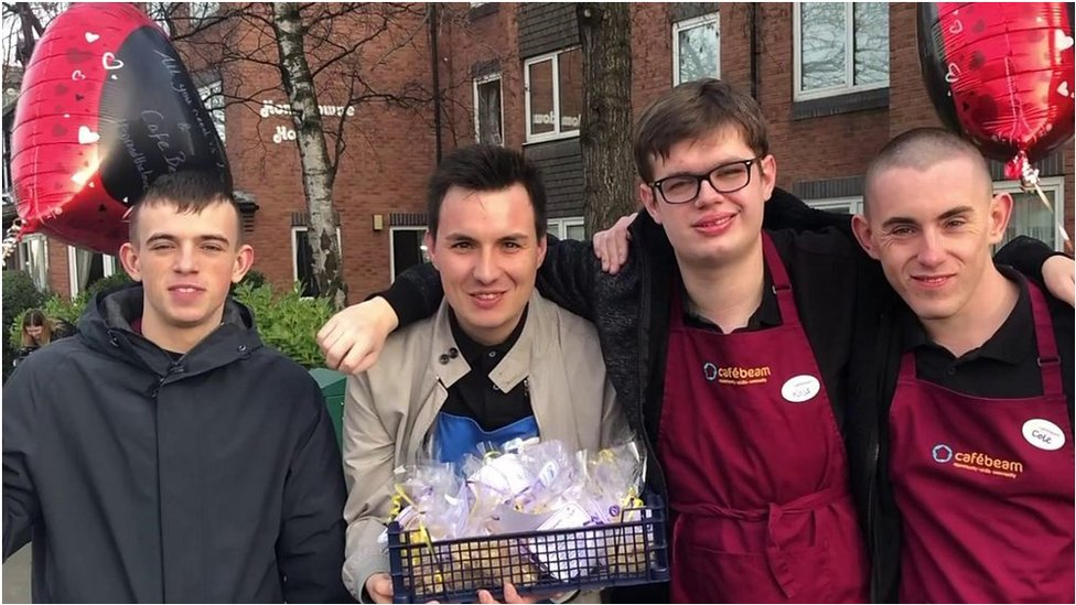 Gosforth's Cafe Beam gives out biscuits to community