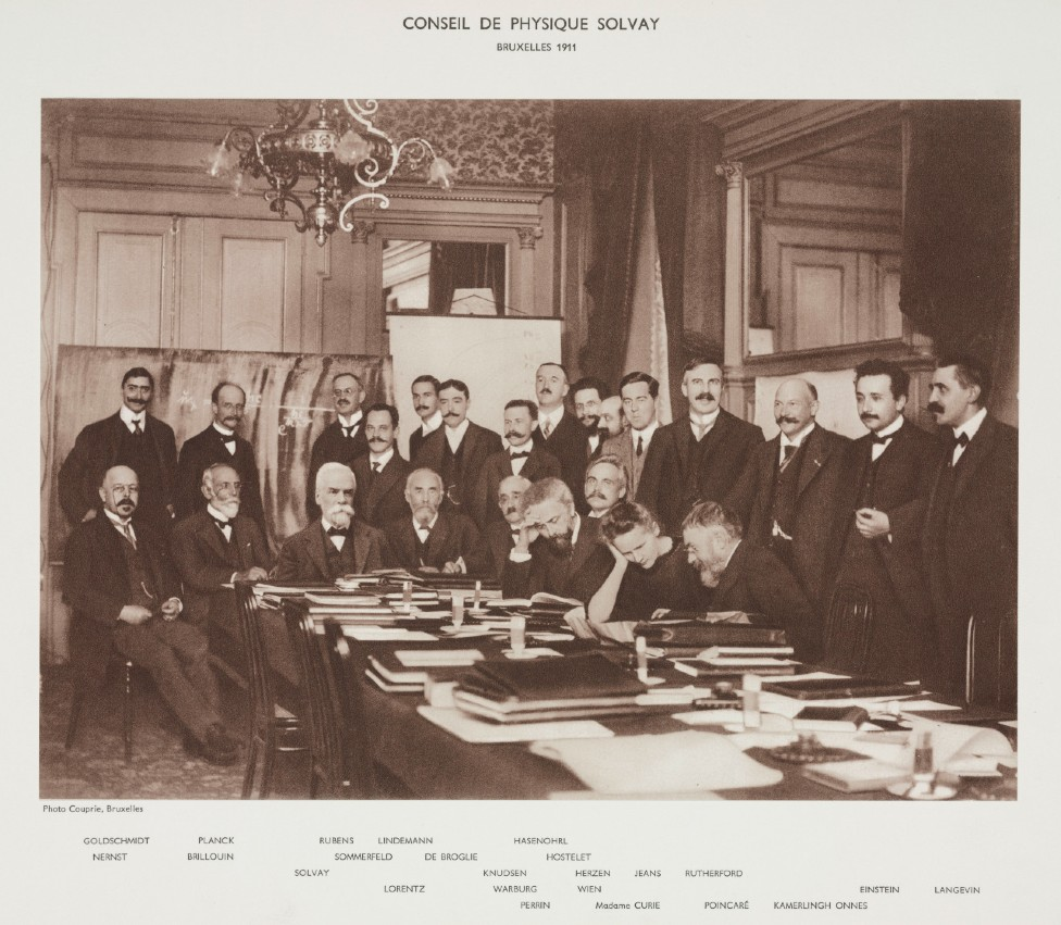 Asistentes a la primer Conferencia Solvay
