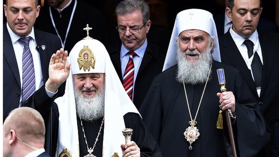 Saglasni: ruski patrijarh Kiril (levo) i srpski patrijarh Irinej