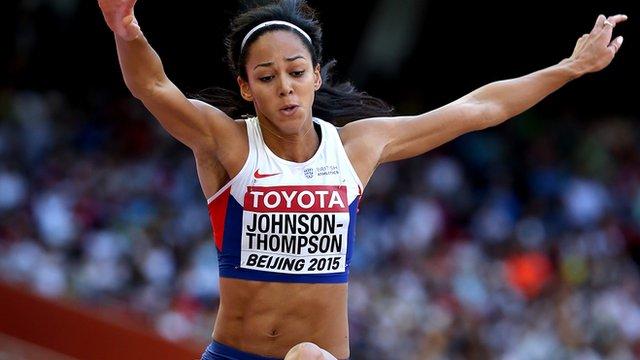 Katarina Johnson-Thompson in the long jump