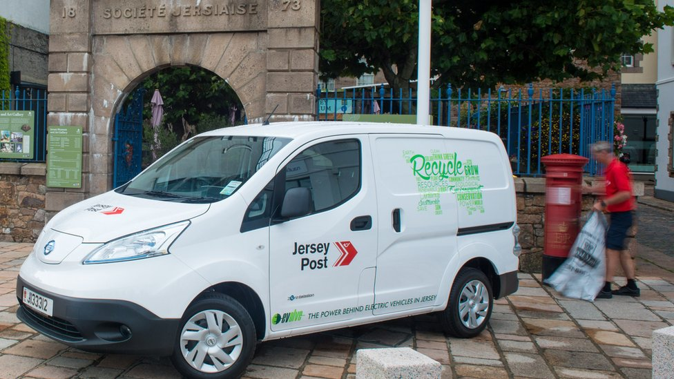 Jersey Post took delivery of 15 Nissan e-NV200s last year