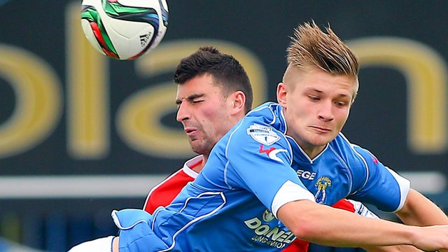 Action from Dungannon Swifts against Cliftonville
