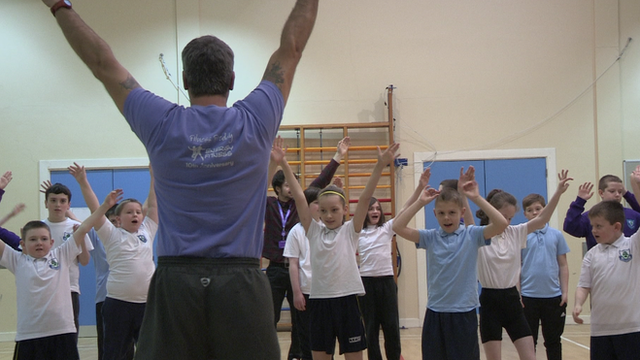 School children take part in a dance class at a Get Inspired Active Academy session
