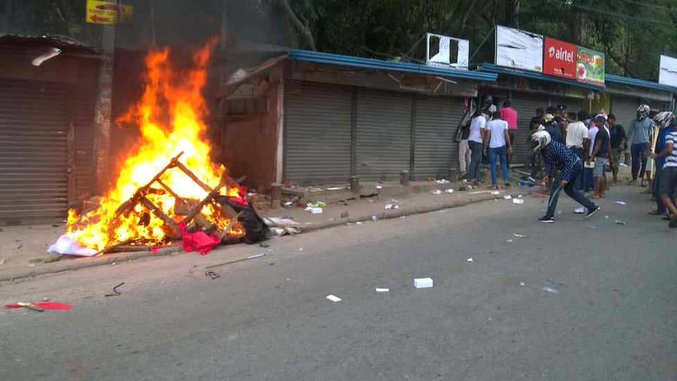 Violence in Kandy on Monday
