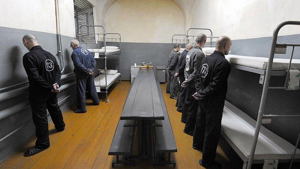 Inmates serving life at Glubokoye jail, north of Minsk - 2009 file pic