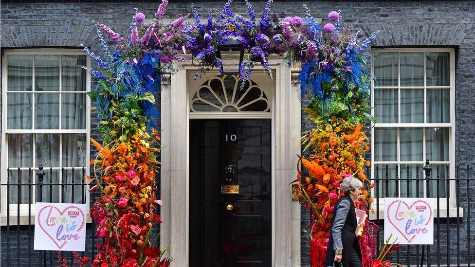 Dauning strit tokom Parade ponosa u Londonu