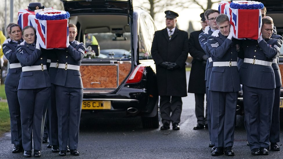 Dambusters couple's funeral: Hundreds pay respects