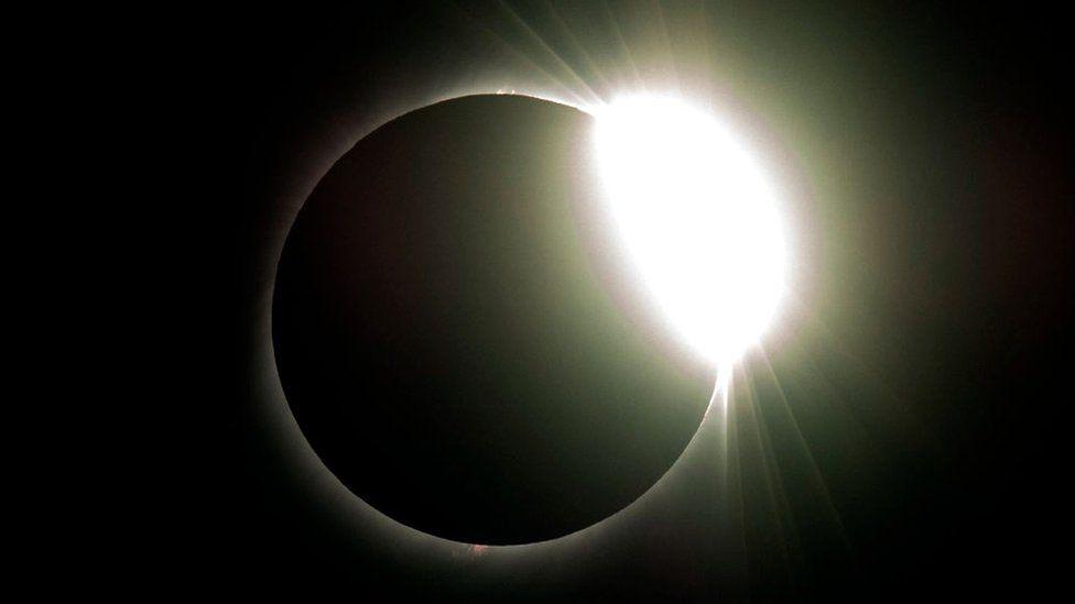 Imagen de la luna tapando el sol