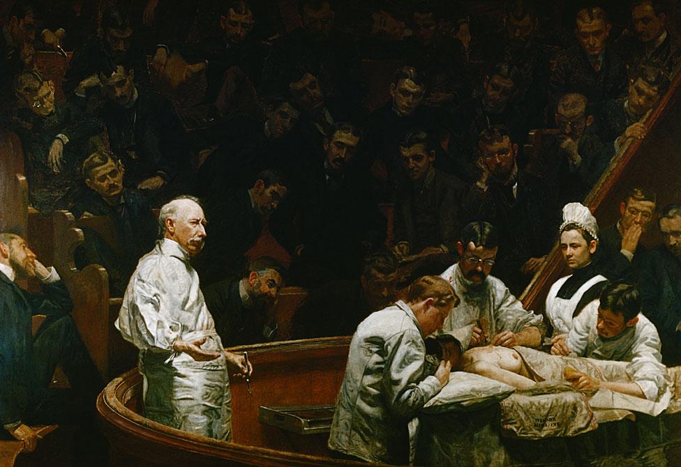 """La clínica de Agnew"" (1889), de Thomas Eakins"