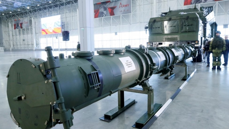Komponente SSC-8/9M729 krstarećeg raketnog sistema izloene na medijskom brifingu u januaru 2019