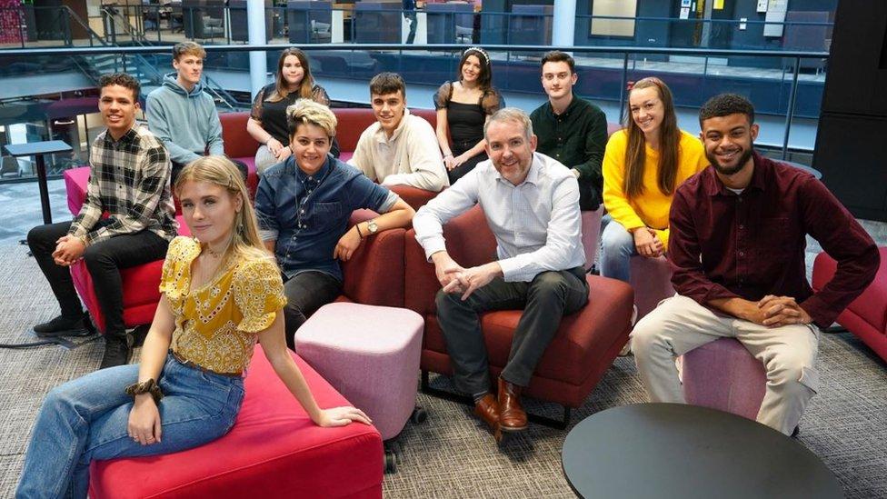 New BBC apprentices with Rhodri Talfan Davies