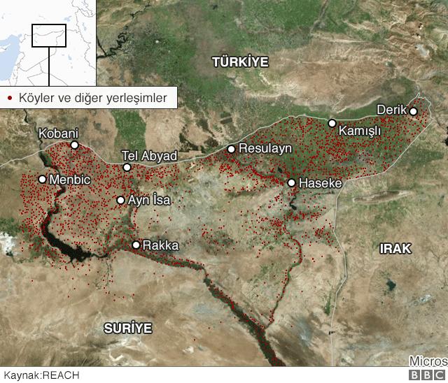 Türkiye Suriye sınırı haritası