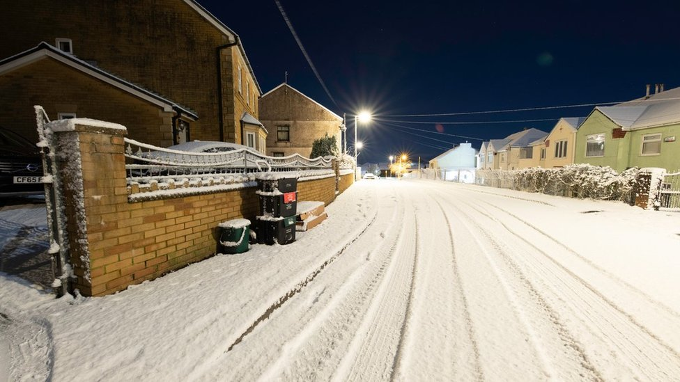 Snow and ice leads to 'several' car crashes