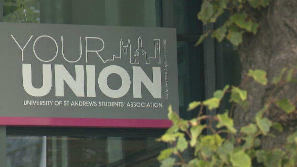 St Andrews University union sign