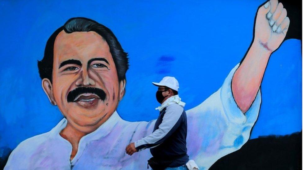 Un mural sobre Daniel Ortega