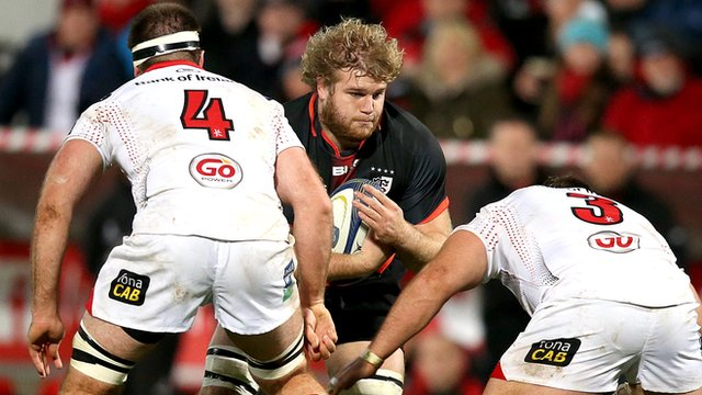 Action from Ulster against Toulouse in the European Champions Cup