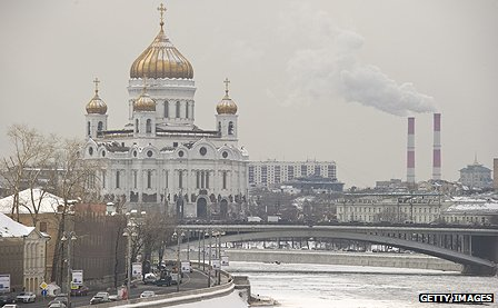 Moscow river scene