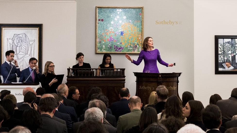 Auctioneer at Sotheby's Klimt sale