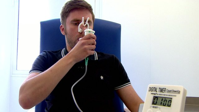 man tries new therapy