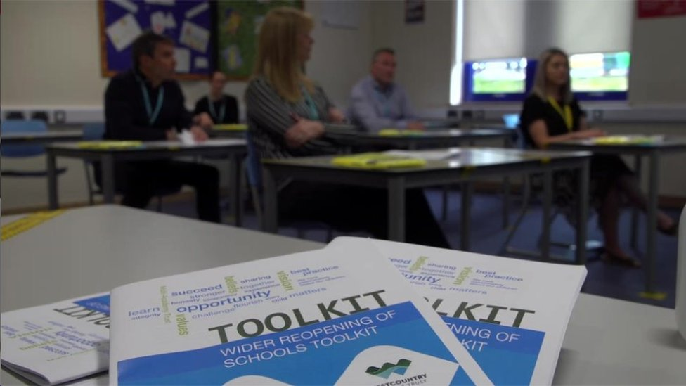 Ivybridge ran induction sessions for staff on how the reopened school would run