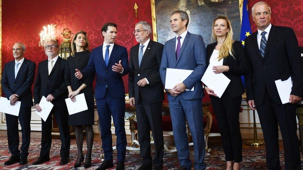 Austrijski kabinet Sebastijana Kurca, maj 2019.