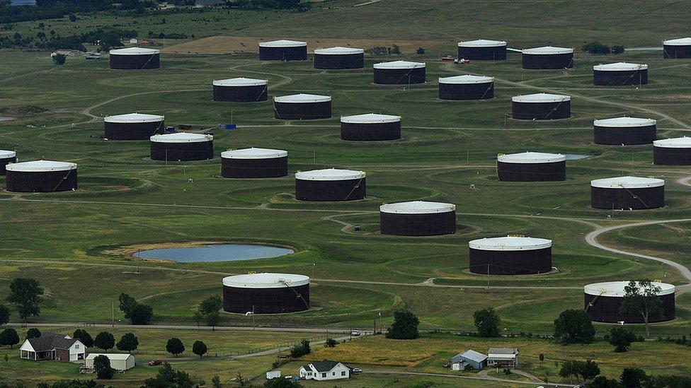 Tanques de petróleo en Cushing.