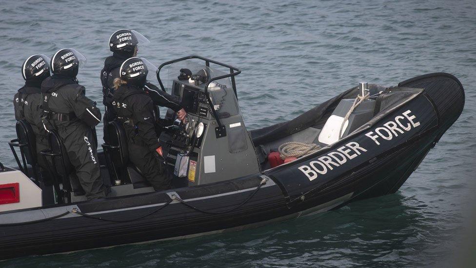 A Border Force patrol boat