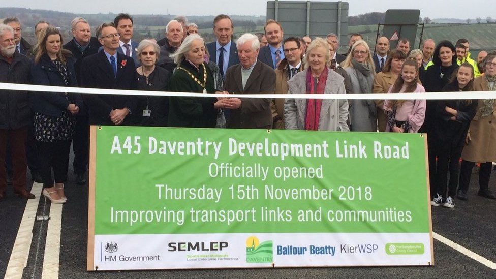 Daventry: New A45 bypass opens around Weedon, Flore and Nether Heyford