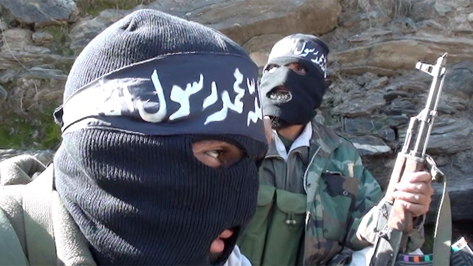 IS fighters in eastern Afghanistan