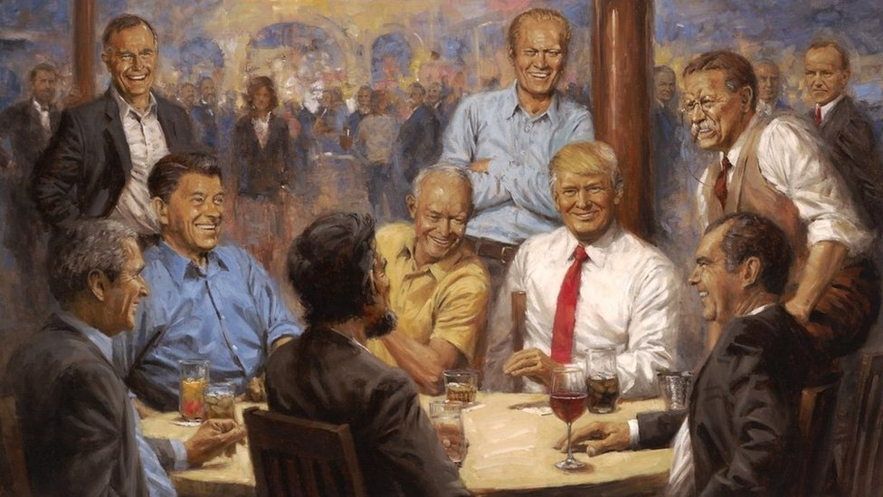 Republikansi klub, naslikao Endi Tomas