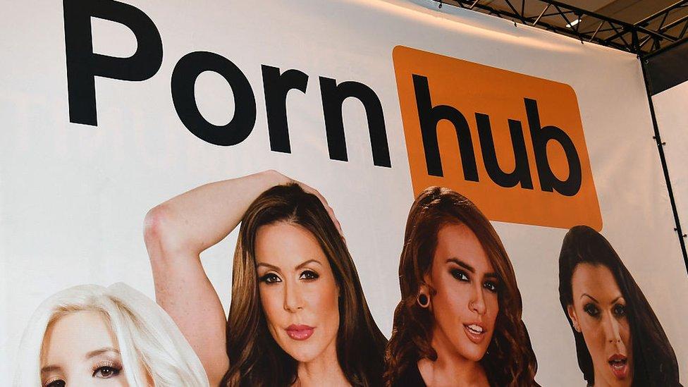 Cartel de Pornhub