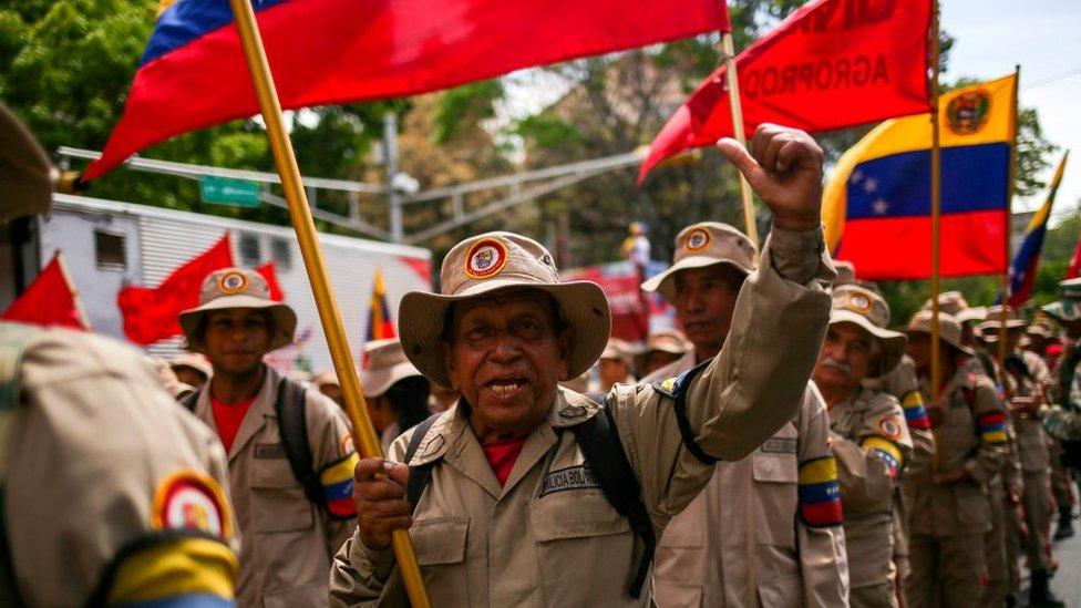 Miembros de la Milicia Boliviariana.
