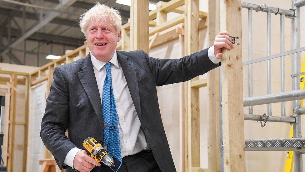Boris Johnson at Exeter college