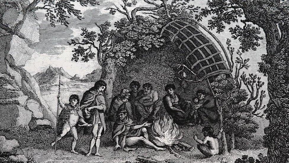 Nativos de Tierra del Fuego.