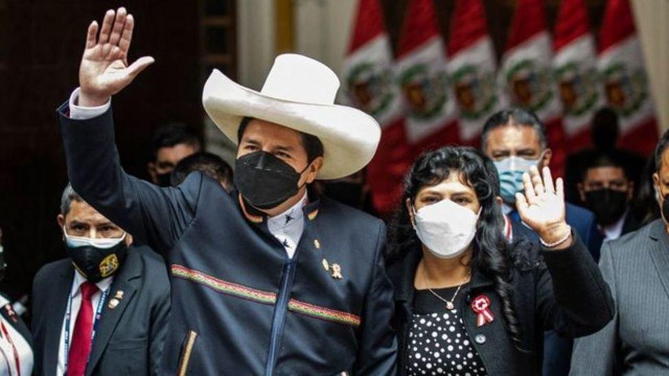 Pedro Castillo y Lilia Paredes, la primera dama