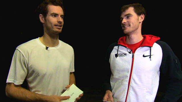 Andy Murray and brother Jamie Murray