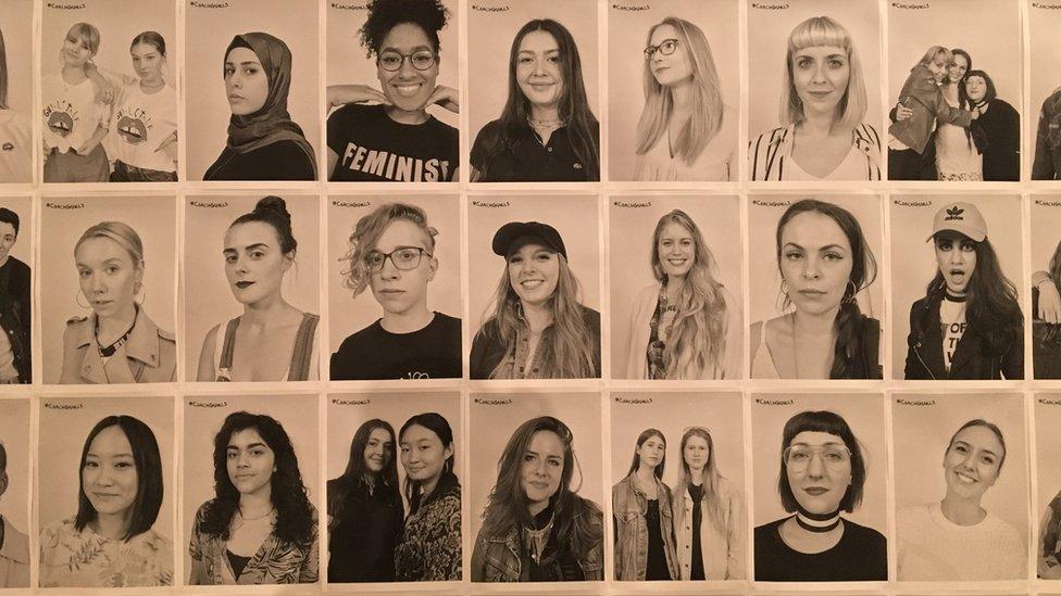 Photographers took portraits of everyone to take home