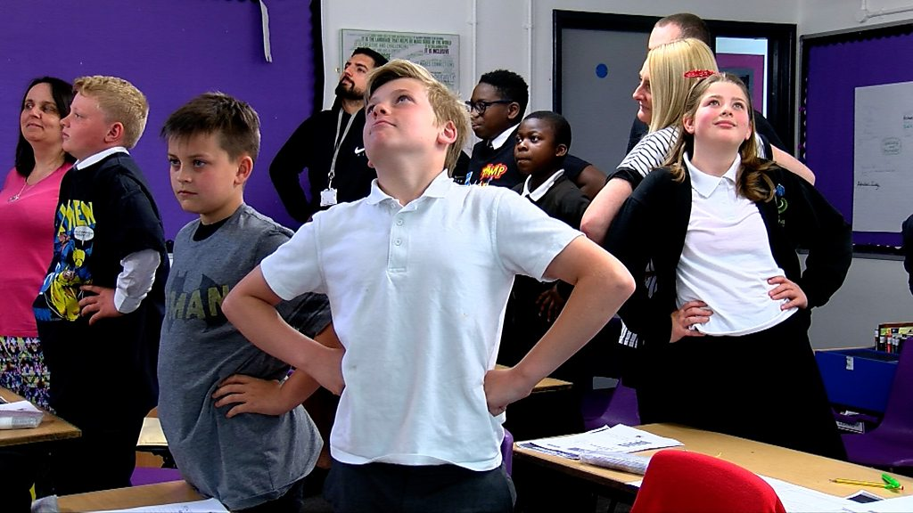 Pupils sitting SATs taught power pose to improve focus