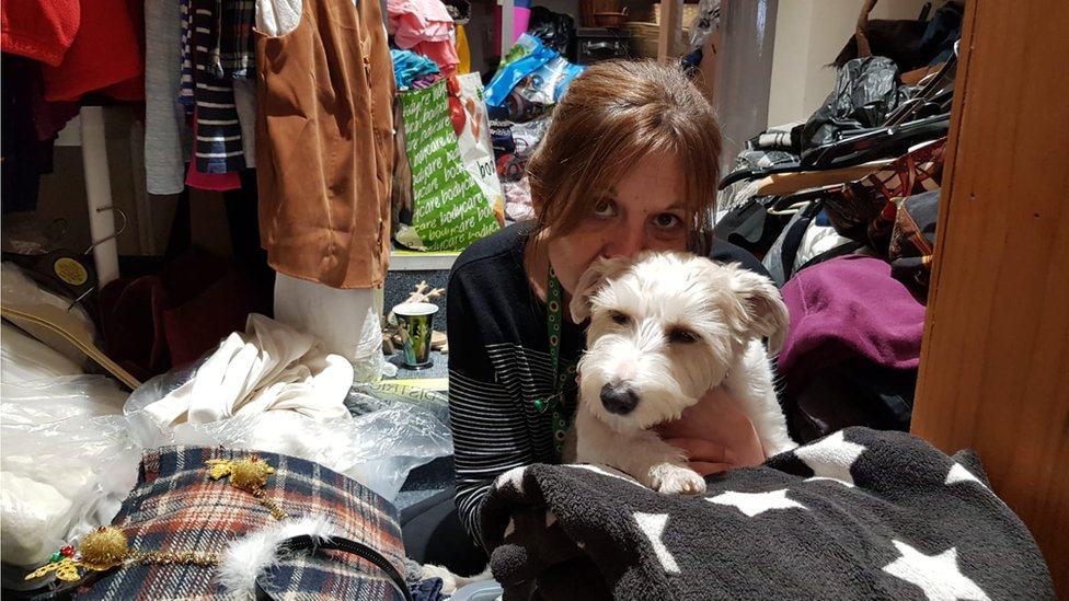 Barbara Pawsey with dog Pedro