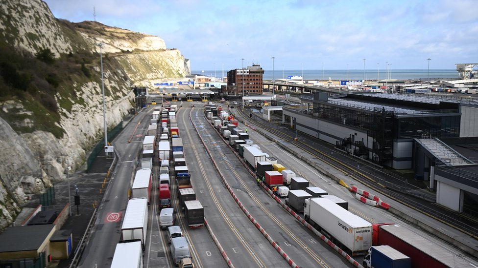 Traffic starts to move through Dover