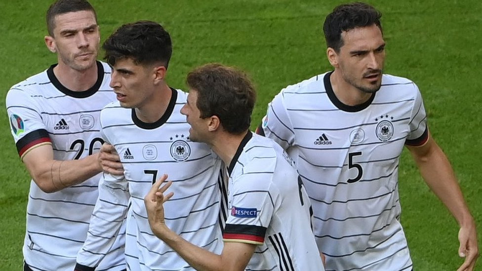 Germany celebrate taking the lead