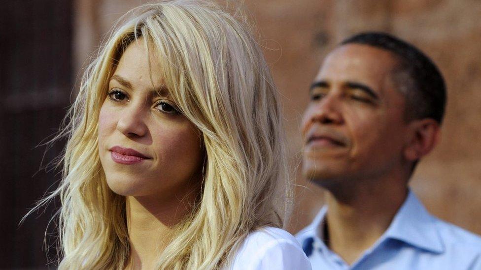 Shakira con el presidente Obama