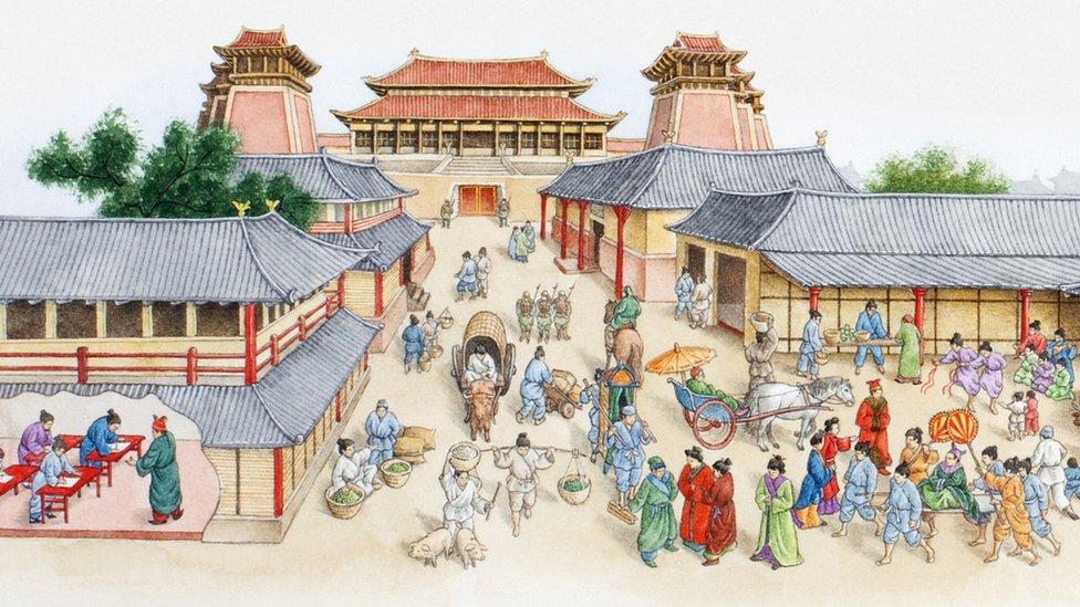 Así era la antigua ciudad china de Chang'an.