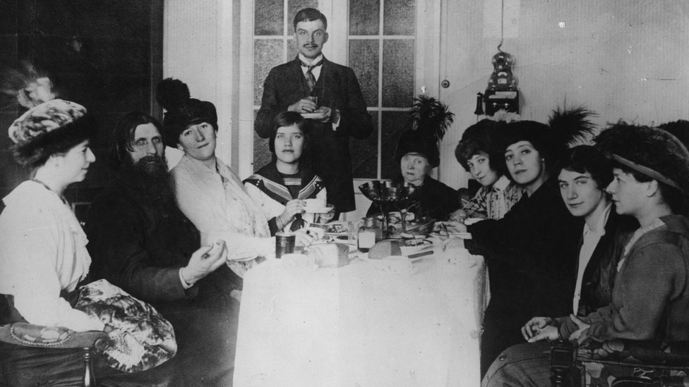 Russian royals with Rasputin - circa 1911